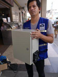 Caja metálica para video vigilancia